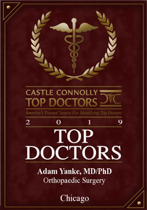 Top Doctors - Adam B. Yanke,MD - Orthopedic Surgeon